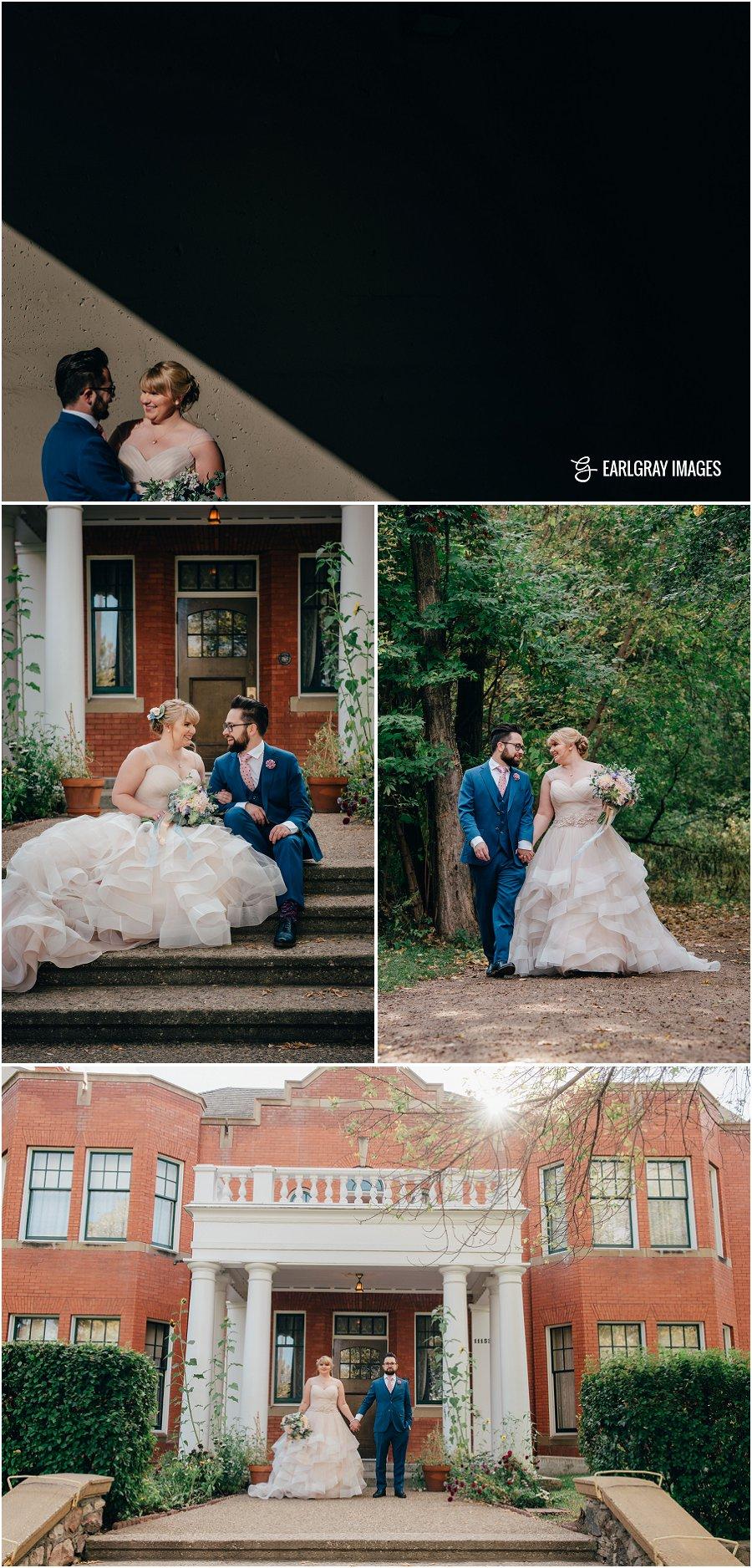 Rutherford House wedding, University of Alberta fall wedding, Faculty club wedding, Edmonton fall wedding, convocation hall wedding, princess dress wedding