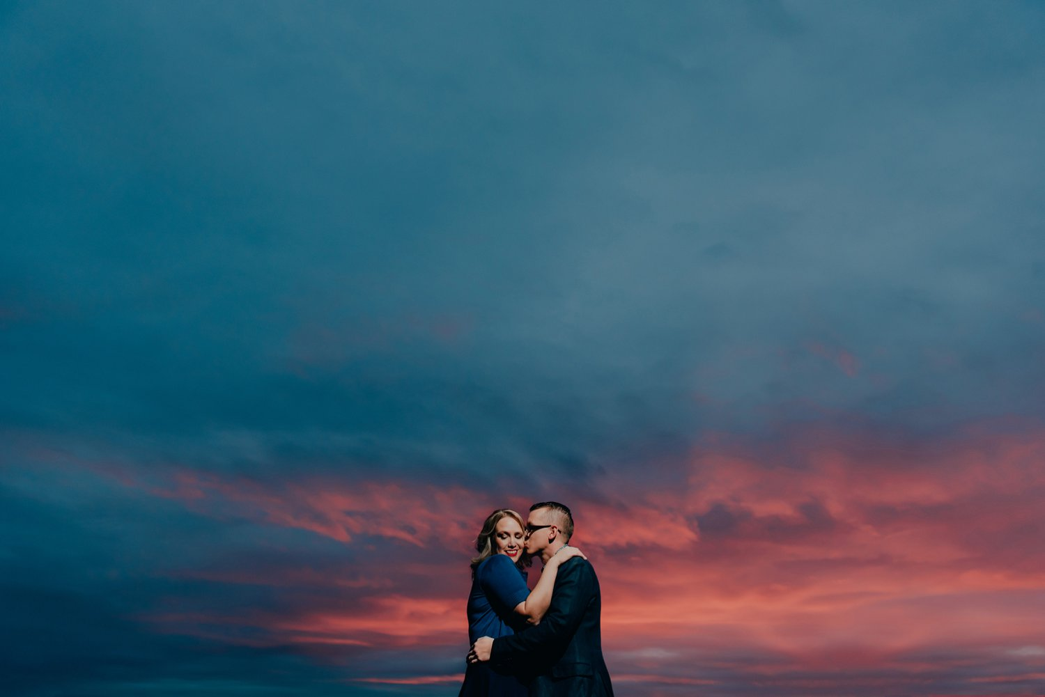 Edmonton Starbucks engagement, Edmonton sunset engagement photos, Edmonton fall engagement session
