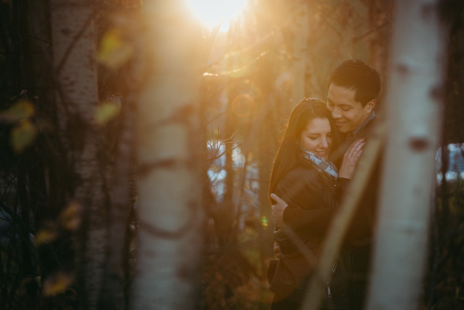 Fall St. Albert engagement photos, autumn st. albert engagement, fall couple photos, Grandin engagement session