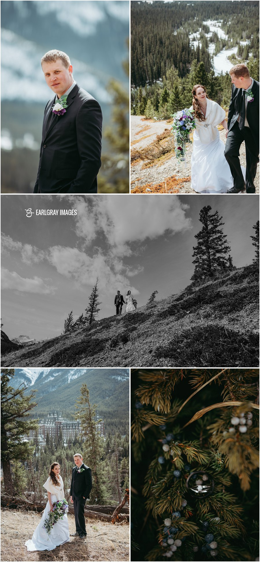 Banff winter wedding, Hoodoos viewpoint wedding, Canmore winter wedding, small Banff wedding, mountain wedding